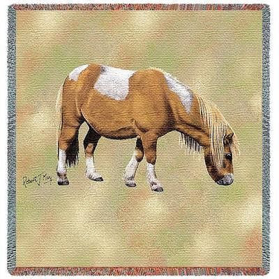 54x54 SHETLAND PONY HORSE Lap Square Tapestry Afghan Throw Blanket