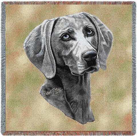 54x54 WEIMARANER Dog Tapestry Throw Blanket