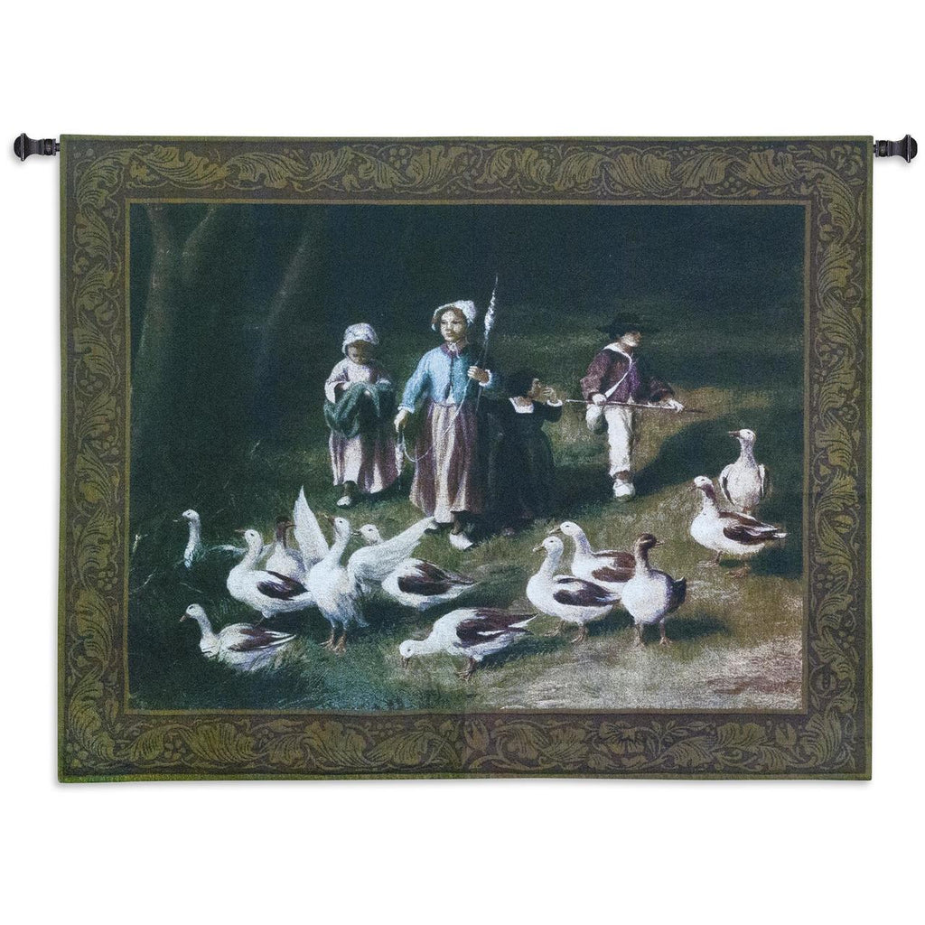 53x40 ABIGAILS WATCH Duck Tapestry Wall Hanging