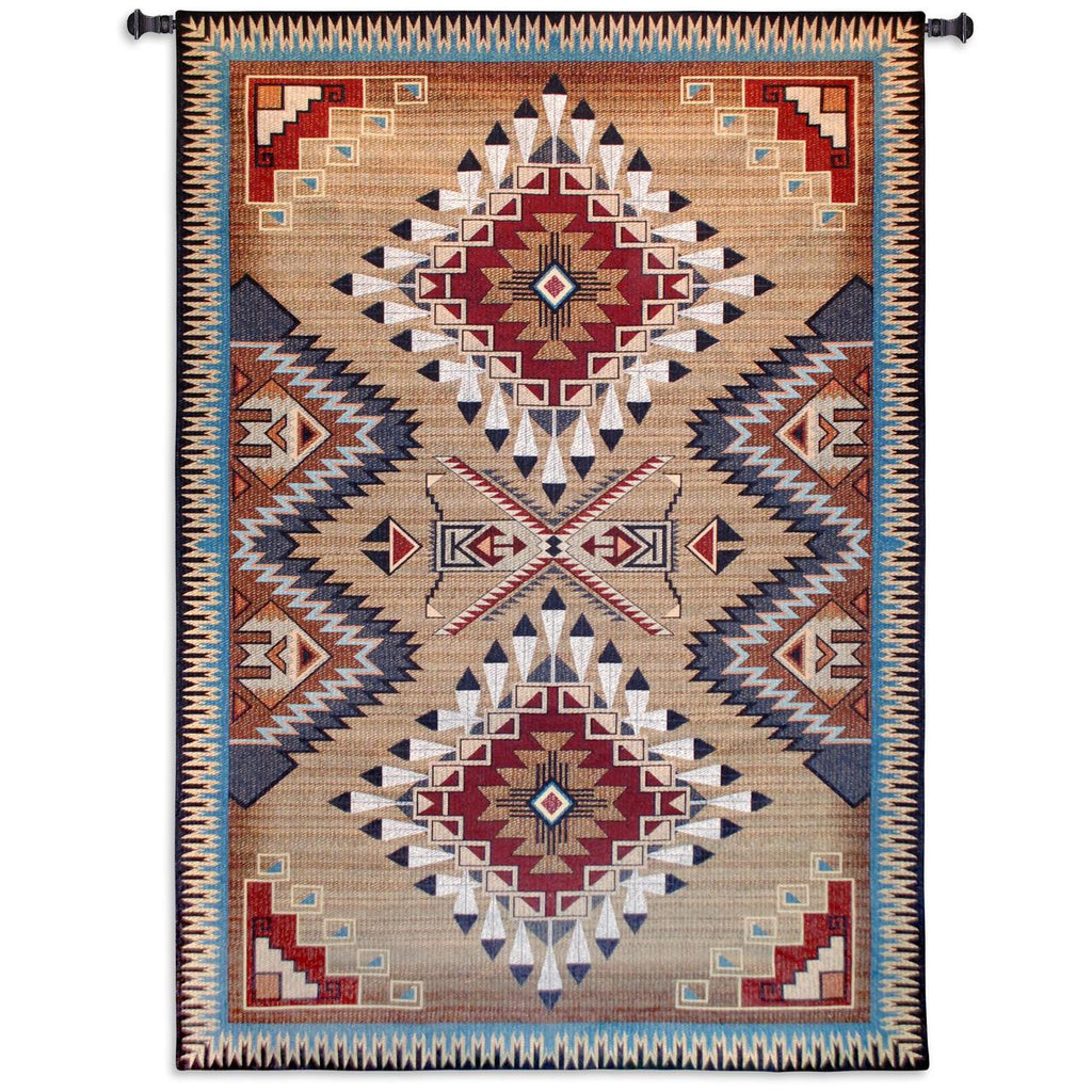 76x53 BRAZOS Southwest Tapestry Wall Hanging