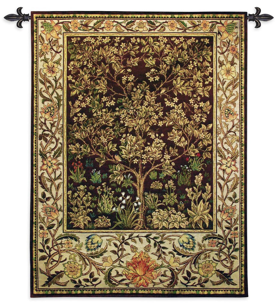 40x53 TREE OF LIFE Umber Tapestry Wall Hanging
