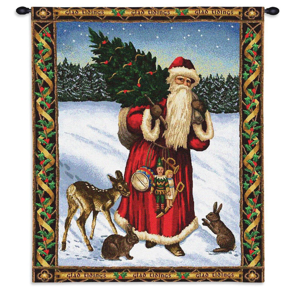 34x26 Santa Claus FATHER CHRISTMAS Wall Hanging