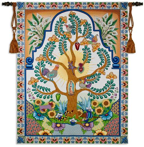 68x52 Arboles de la Vida Tree Of Life Latin Tapestry Wall Hanging