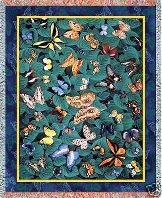 70x54 BUTTERFLY Throw Blanket