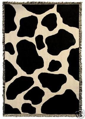 69x48 COW Farm Skin Print Tapestry Throw Blanket