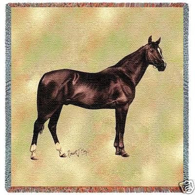 54x54 ANGLO ARABIAN HORSE Tapestry Throw Blanket