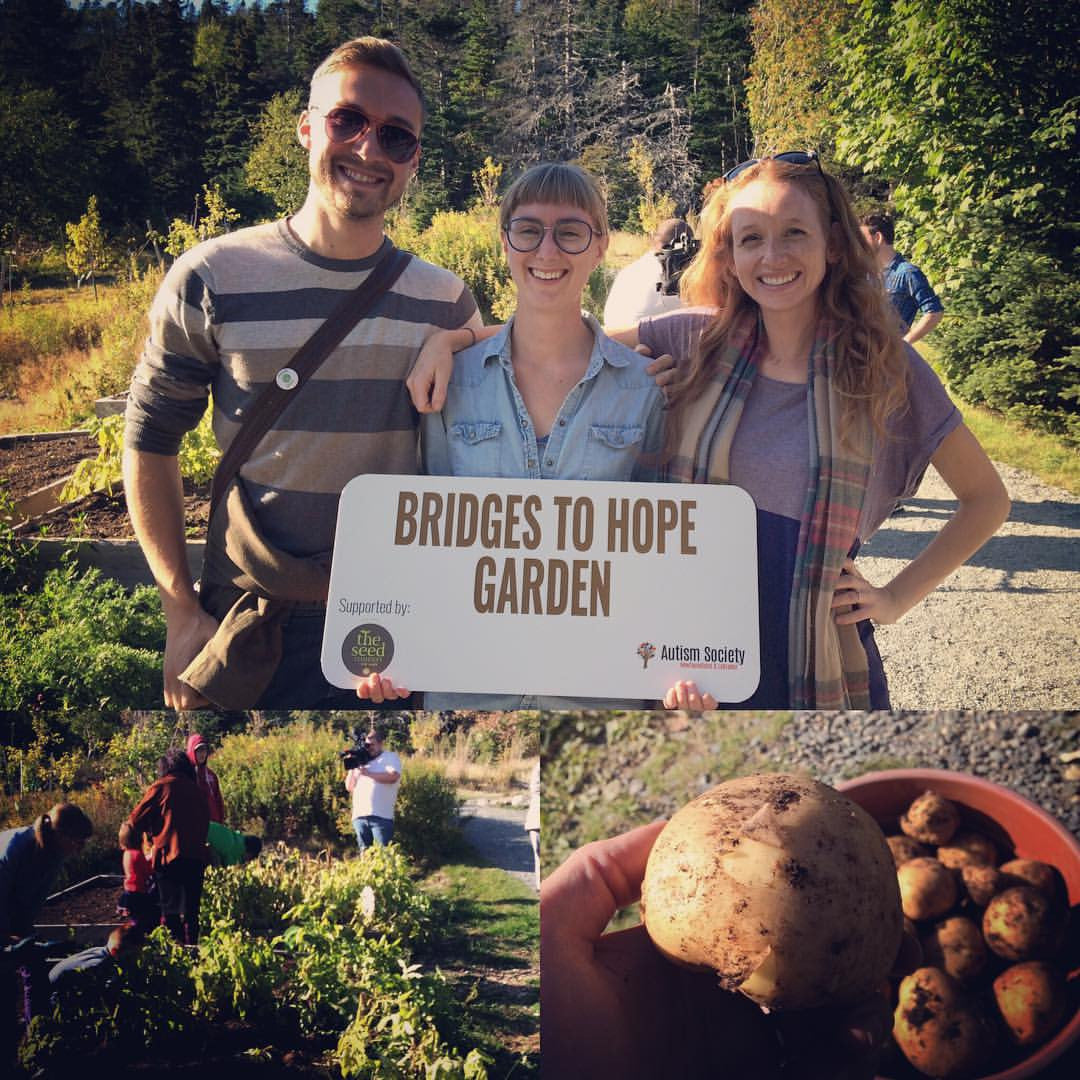 Helping the Community: Seed Potatoes for The Autism Society's Bridges to Hope garden