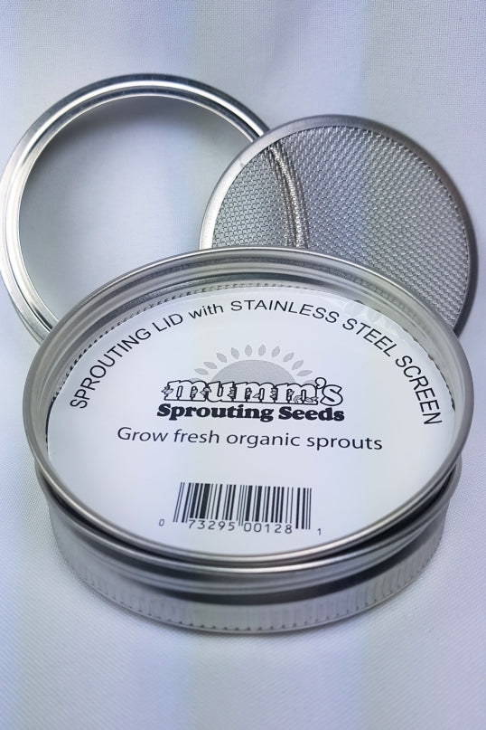 Mumm's Sprouting Lid with Stainless Steel Screen