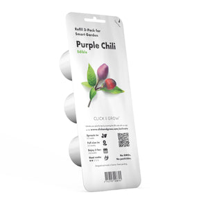 Click and Grow Refill 3-Pack - Purple Chili