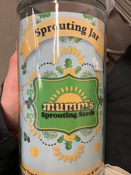 Mumm's Sprouting Seeds Sprouting Jar 2L