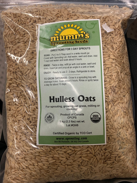 Mumm's Sprouting Seeds Hulless Oats 1kg