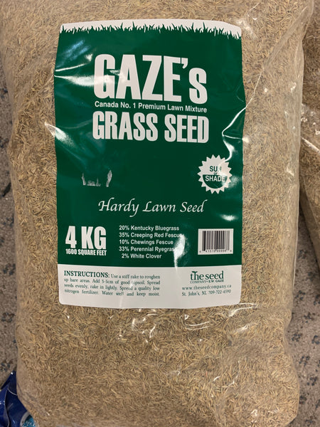 Gaze's Grass Hardy Lawn Seed 4kg, 1600 Square Feet
