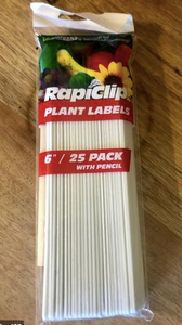 "Plant Labels 6"" / 25 pack with pencil"