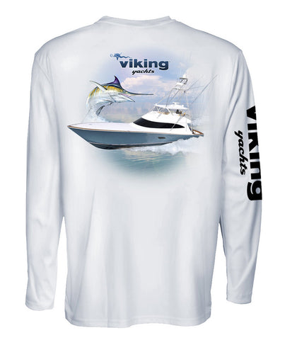 Viking Yachts Denali Longsleeve Tournament Design - White