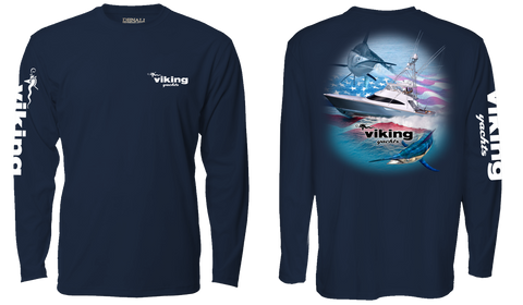 Viking Flag Denali Long Sleeve Tee* Available in White or Navy
