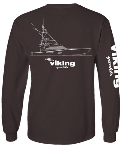 Viking Yachts Comfort Colors 80 Profile Line Drawing L/S - Pepper