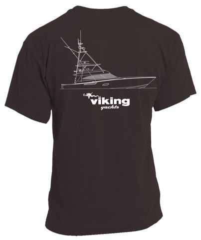 Viking Yachts Comfort Colors 80 Profile Line Drawing S/S - Pepper