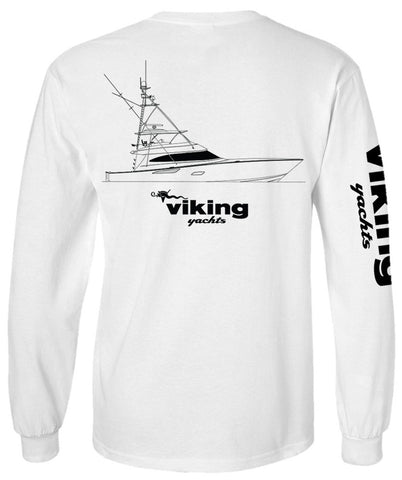 Viking Yachts Comfort Colors 80 Profile Line Drawing L/S - White