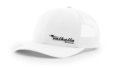 Valhalla Trucker Hat - White