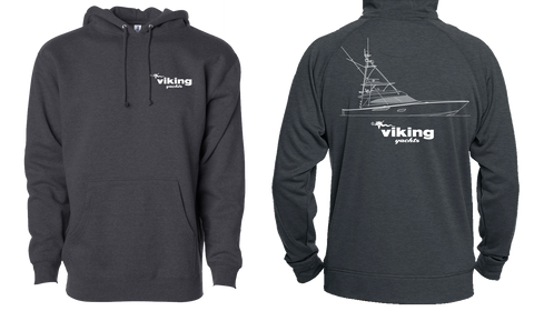 Viking 80 Line Drawing Hooded Sweatshirt* Available in Charcoal & Navy