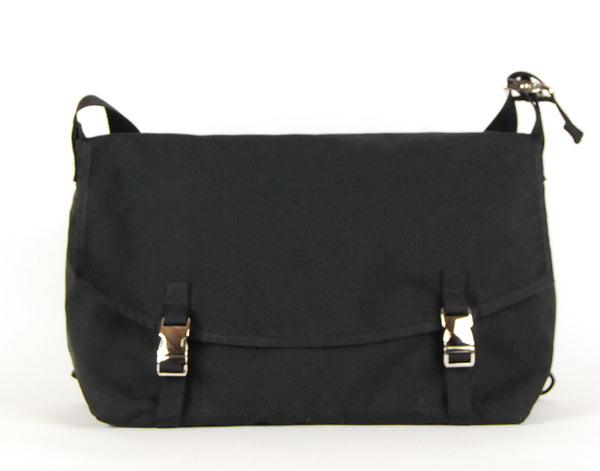 Large Black Custom Messenger, clearance