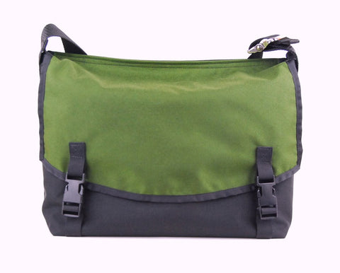 Small Classic Messenger Bag, Moss. Clearance