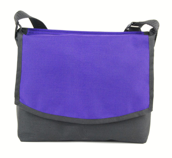 Minimalist MIni Courier Bag, Purple - CourierWare Messenger Bags  - 1