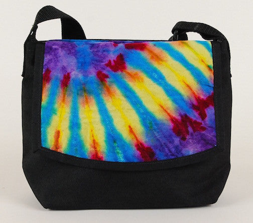 Micro Courier Bag, Tie Dye multi color - CourierWare Messenger Bags  - 1