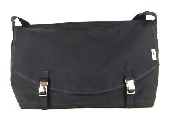 XL Custom Black Messenger Bag, clearance