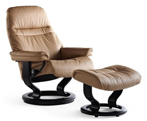 2.	Ekornes USA Sunrise Large Chair & Ottoman