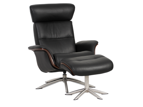 IMG Space Chair & Ottoman in TREND Leather
