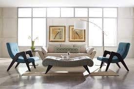 mid century inspired living room decor