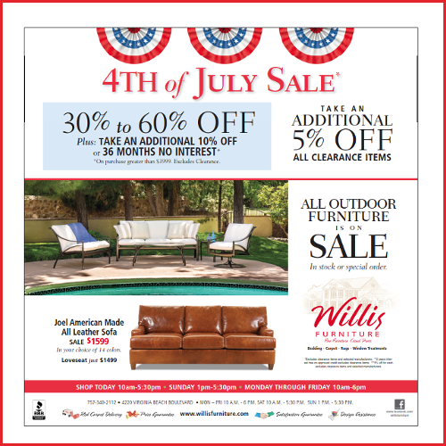 Willis 4th of July Sale