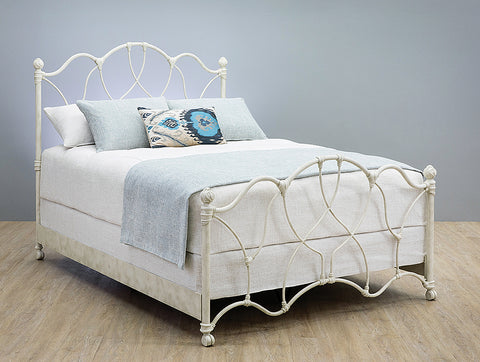 1026Cb Morsley Queen Bed Aged Nickel Finish
