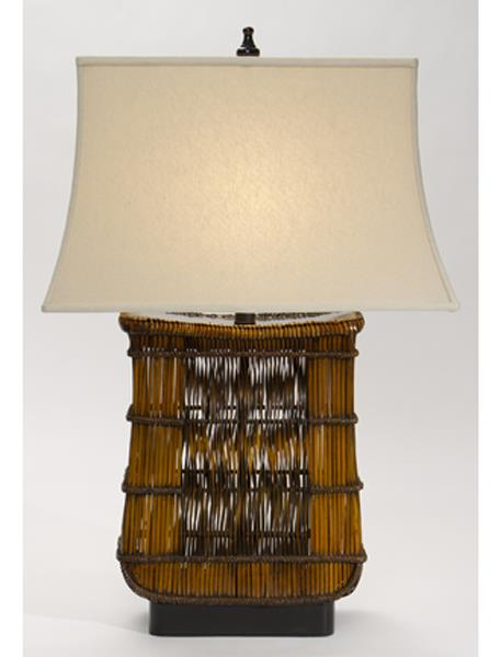 Biscayne Table Lamp With Linen Brussels Oatmeal Shade
