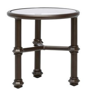 20 Inch Occasional Table 3823 2000, Top Sr Finish 181 Java