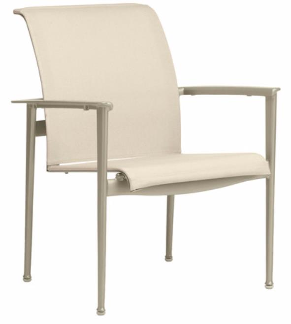 Flight Sling Stacking Arm Chair, Finish 113 Mica, Fabric 1311 Reef Versatex Gr B