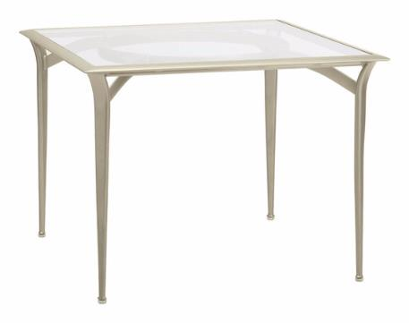 36 Inch Square Bistro Umbrella Table With Aluminum Maiori Top