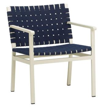 Flex Arm Chair In Finish 162 Coco, 403 Coco 1 3/4 Suncloth Strap