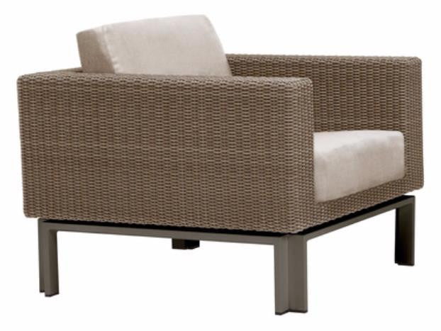 Il Viale Lounge Chair With Loose Cushions Resinweave Sandal Fabric Suncloth  F1346 Pike Gr A Base