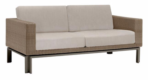 Il Viale Loveseat With Loose Cushions Resinweave Sandal Fabric Suncloth F1383 Pesto Gr A Finish 168 Laurel