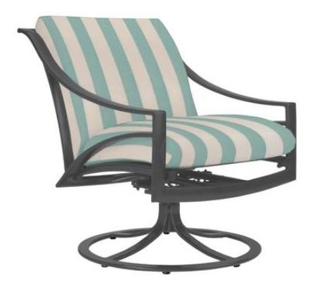 Pasadena Motion Swivel Chair 5300-5300, Fabric 1407 Linen Bar Stripe Color Sea Finish 113 Mica