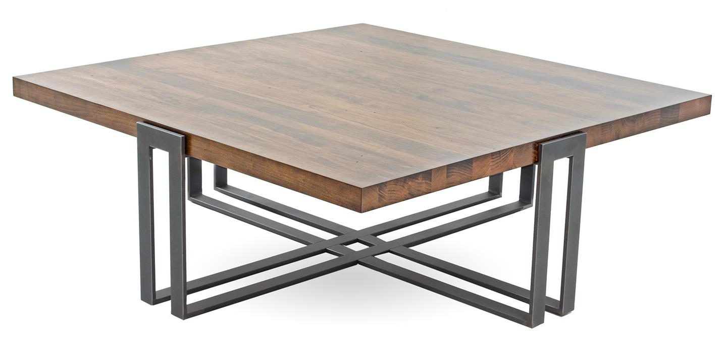 Charmant Watson Square Cocktail Table 6016 Finish Maple In Cashew Iron Champagne 72