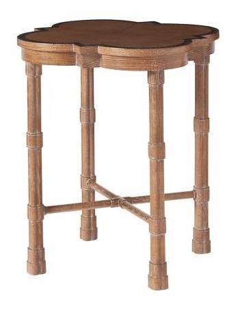 Accent Table Heart Oak Veneered Cartouche Top Oak Legs