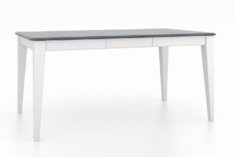 Gourmet Rectangular Dining Table Top Finish 15 Navy Blue Washed Base Finish 50 Dove White