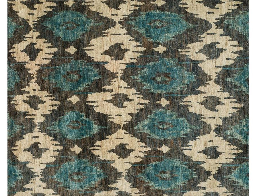7.9X9.9 Midnight Jute Handknotted Rug Xavier Collection Color Xv05 Midnight
