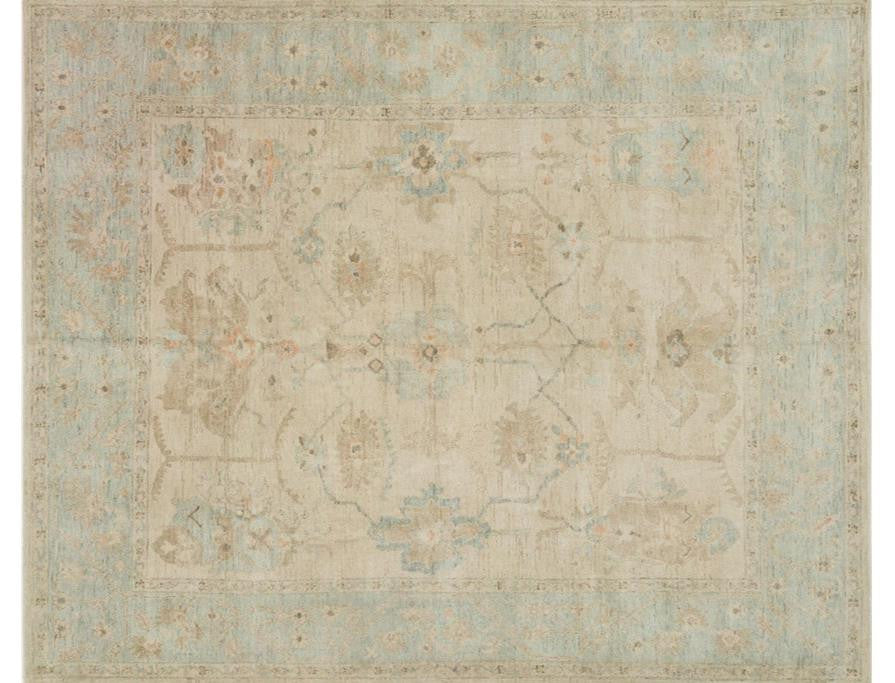 Vincent Stone Mist Handknotted Rug