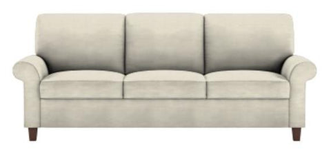 Comfort Sleeper Gibbs King Size Gib-S03-Ks Fabric Cream Ew-3-10 Grade 3, Gel Mattress Walnut Finish