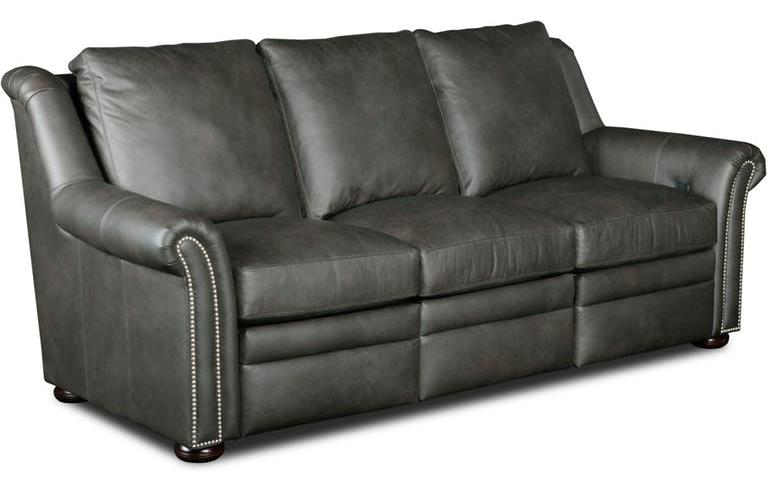 Attrayant Newman Sofa Left And Right Full Recline Leather Aspen 9110 97 Gr 1 Finish  Plantation