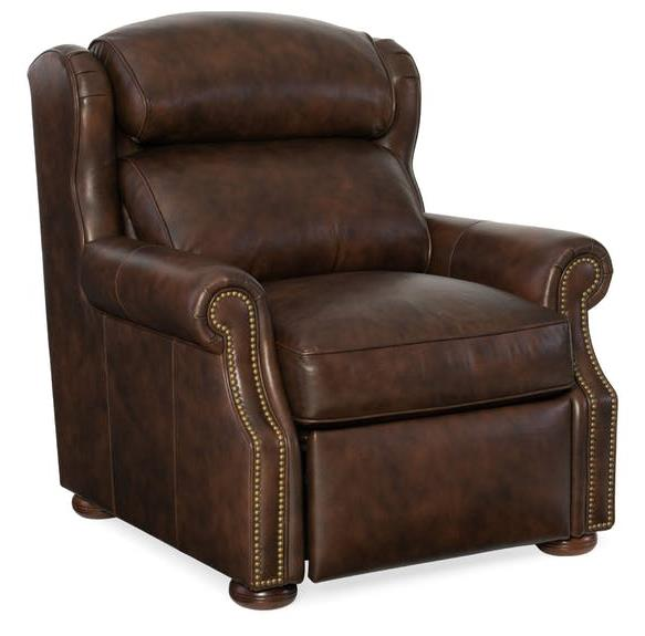 Armando Chair Full Recline Empyrean Leather L1-9067-79-F Casablanca Finish Motion Button